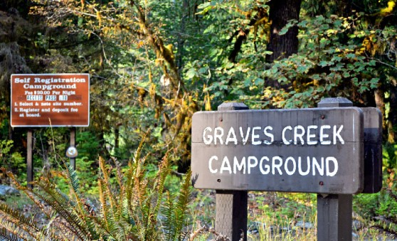 best-campgrounds-olympic-national-park-washington-graves-creek-campground-sign